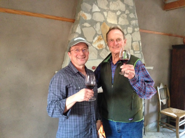 A toast with Richard Sanford, who planted La Rinconada in 1995
